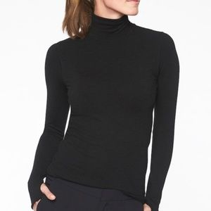 Athleta Wool Blend Foresthill Turtleneck Top